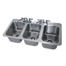 Advance Tabco DI-3-10 Drop-In Sink, 3-compartment, 10