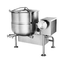 Cleveland KGL40T Kettle, gas, tilting, 40-gallon capacity, 2/3 steam jacket design, floor mounted control console supports, stainless steel exterior