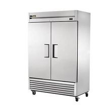 TRUE T-49-HC True Refrigerator, Reach-In, Two-Section, Stainless Steel Doors, Stainless Steel Front, Aluminum Sides