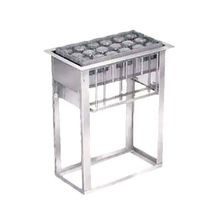 Lakeside 973 Tray & Glass Rack Dispenser, drop-in, self-leveling, open frame, accommodates up to (6) 10