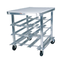 Winholt CR-72PT Rack, Can Storage, low-profile mobile design with work top, self feeding gravity fed shelves, holds (72) #10 cans or (96) #5 cans