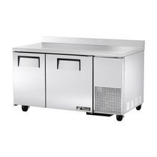 TRUE TWT-60-32F Deep Work Top Freezer, two-section, stainless steel top with rear splash, front & sides, (2) stainless steel doors, (4) PVC coated