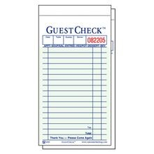GUEST CHECK 2 PART 50/BOOK ATTACHED CARBON 50/CASE (2500)