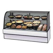 Federal CGR5948CD Curved Glass Refrigerated Deli Case, 59