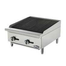 Atosa ATCB-24 Heavy Duty Char Rock Charbroiler, Natural gas, countertop, 24