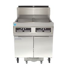 Frymaster SCFHD350G Decathlon HD Series Fryer Battery, gas, (3) 50 lb. capacity each, built-in filtration, tube-type design, automatic melt cycle