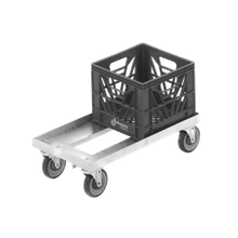 Channel MC1326 Milk Crate Dolly, double stack, 14-1/4