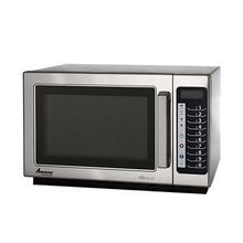 Amana RCS10TS Microwave, Commercial Microwave Oven, 1000 watts, 1.2 cu. ft. capacity, medium volume, 4-stage cooking, (5) power levels, (100) memory settings, braille touch pads, non-removable air filter