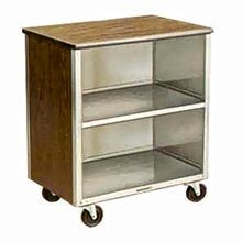 Lakeside 626 Bussing Cart, (3) shelf, enclosed base (3) sides, shelf size 18