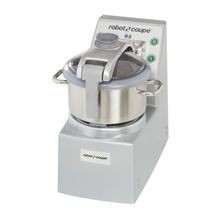 Robot Coupe R8 Cutter/Mixer, vertical, 8 qt. stainless steel bowl with handle & see-thru lid, (2) adjustable smooth edge stainless steel