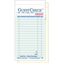 GUEST CHECK 2 PART CARBONLESS 17 LINE 3.4X6.75 GREEN (2500)