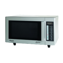 Amana RMS10TS Amana Commercial Microwave Oven, 0.8 Cu. Ft. Capacity, 1000 Watts, Low Volume, 3-Stage Cooking, (5) Power Levels, (20) Memory Settings