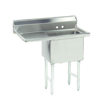Advance Tabco FS-1-3024-24L Fabricated NSF Sink, 1-compartment, 24