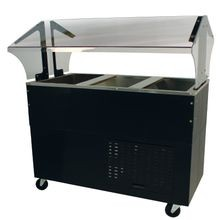 Advance Tabco BMACP3-B-SB Serving Counter with Mechanically Assisted Cold Pan, includes: sneeze guard, 47-1/8