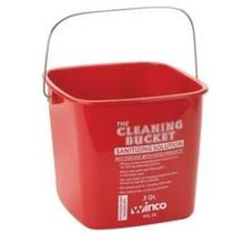 BUCKET 3QT RED SANITIZING 12EA/CS