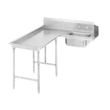 Advance Tabco DTS-G70-60L Island-Soil Dishtable, L-shaped, left-to-right, 10-1/2