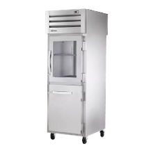TRUE STG1RPT-1HG/1HS-1S-HC SPEC SERIES Pass-thru Refrigerator, one-section, stainless steel front, aluminum sides, (1) glass & (1) stainless steel
