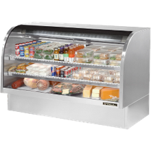 TRUE TCGG-72-S-LD Curved Glass Deli Case, 72-1/4