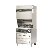 Wells WVF-886RW VCS2000 Ventless Dual Fryer with Auto-Lifts, electric, dual pot 15 lb. fat capacity each, mechanical timer, self-contained hood