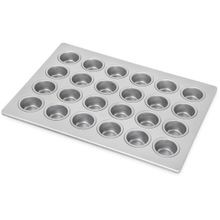 MINI-MUFFIN/CUPCAKE 24 CUP 1.7 5OZ 18X13 ALUMINIZED STEEL 6EA