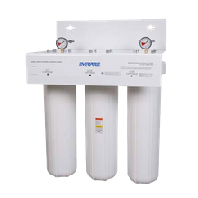 FMP 117-1219 EverPure Water Filter System, with triple high pressure housing, (1) CC1E & (2) CC3E Cartridge, pressure relief valve, outlet pressure