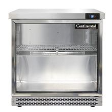 Continental SW32-GD-FB Work Top Display Refrigerator, Front Breather, 32