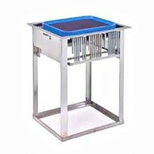 Lakeside 977 Tray & Glass Rack Dispenser, drop-in, self-leveling, open frame, accommodates up to (14) 10