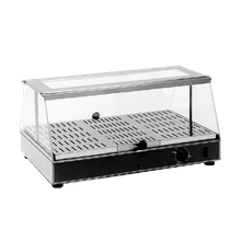 Equipex WD-100 Sodir Top Gon Display Warmer, countertop, 1 shelf, stainless steel construction, plexiglass top & doors, without light, temperature up