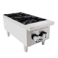Atosa ATHP-12-2 CookRite Heavy Duty Hotplate, gas, counter model, 12