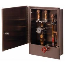 T&S Brass B-2339-LR Hose Reel Control Cabinet, with control valve & temperature gauge & dual check valves