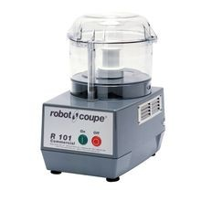 Robot Coupe R101 B CLR Combination Food Processor, 2.5 quart, clear polycarbonate cutter bowl, see thru lid, stainless steel