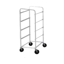 Advance Tabco LR4 Lug Cart, full height, open sides, with slides for lugs, holds 4 lugs, all-welded aluminum construction, 1