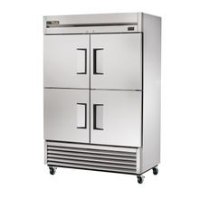 TRUE T-49-4-HC Refrigerator, Reach-in, two-section, (4) stainless steel half doors, stainless steel front, aluminum sides, aluminum interior with