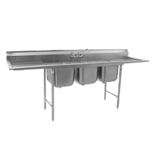 Eagle 314-18-3-18L-X 314 Series Sink, three compartment, 80-3/4
