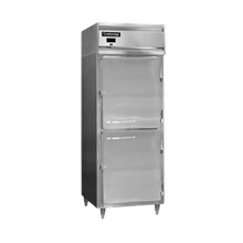 Continental DL1W-SS-HD Designer Line Heated Cabinet, reach-in, one-section, stainless steel exterior & interior, standard depth cabinet, narrow