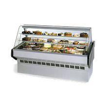 Federal SQ-8CB Market Series Bakery Case Refrigerated Bottom Display Deck Non-Refrigerated Glass Shelves, 96