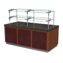 BSI ZG9930-5 ZGuard Food Shield, single, self-service, two-tier display, fully adjustable, 20-1/2