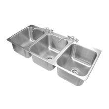 Advance Tabco DI-3-1612 Drop-In Sink, 3-compartment, 16
