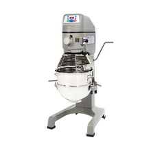 Globe SP30 Planetary Mixer, floor model, 30 quart 304 stainless steel bowl, #12 attachment hub, (3) fixed speeds, digital controls with 60-minute