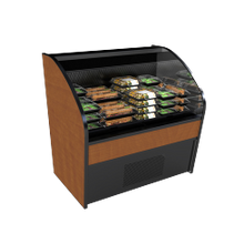 Structural CO44R-QS Quick Ship Oasis Self-Service Refrigerated Open Air Screen Case, 47-1/4