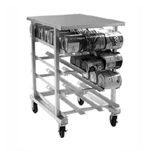 Eagle OCR-10-4A Panco Can Rack, half size, mobile design, self feeding gravity fed shelves, designed for (72) #10 or (96) #5 cans, aluminum welded
