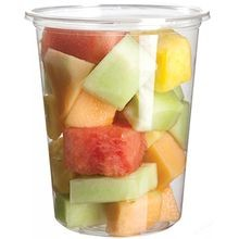 DELI CONTAINER PLA 32OZ ROUND CLEAR COMPOSTABLE (500)