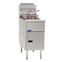 Pitco SG14RS Solstice Fryer, gas, floor model, full frypot, 40-50 lb. oil capacity, millivolt control, stainless steel tank, front, door & sides