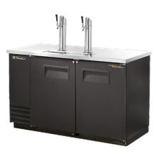 TRUE TDD-2-HC Draft Beer Cooler, (2) keg capacity, stainless steel counter top, black vinyl exterior & (2) full doors with locks, galvanized interior