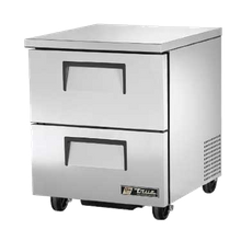 TRUE TUC-27D-2-HC Undercounter Refrigerator, 33-38 F, stainless steel top & sides, (2) drawers each accommodate (1) 12x20x6 food pan (NOT included)