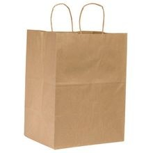 BAG PAPER BROWN W/ HANDLE 12X9X15.75 (200)