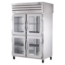 TRUE STG2R-4HG-HC SPEC SERIES Refrigerator, Reach-in, two-section, stainless steel front, aluminum sides, (4) glass half doors with locks, cam-lift