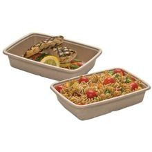 CONTAINER 30 OZ COMPOSTABLE 9X6.75X1X1.75 BAGASSE (300)