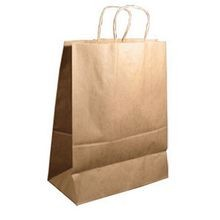 BAG PAPER KRAFT WITH HANDLE 10X7X12 (250)