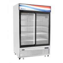 Atosa MCF8709 Refrigerator Merchandiser, two-section, self-contained refrigeration, 45.0 cu. ft. capacity
